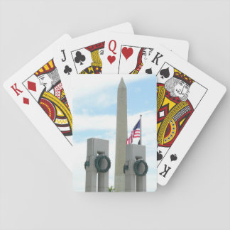 Washington Monument and World War II Memorial Playing Cards