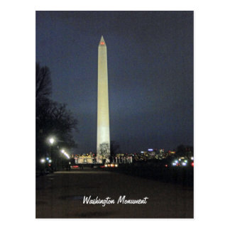 Washington Monument at Night 001 Postcard