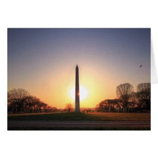 Washington Monument at Sunset Card