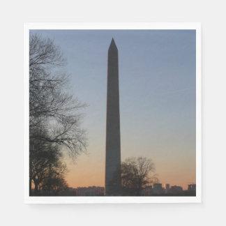 Washington Monument at Sunset Disposable Serviette