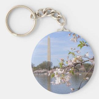 Washington Monument Beautiful Gifts Basic Round Button Key Ring