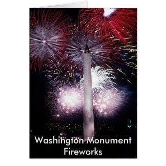 Washington Monument Fireworks Greeting Card