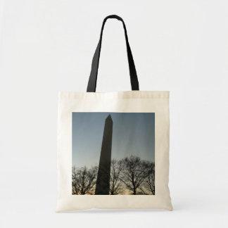 Washington Monument in Winter II DC Travel Photo Tote Bag