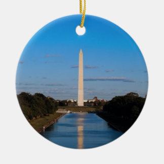 Washington Monument Round Ceramic Decoration