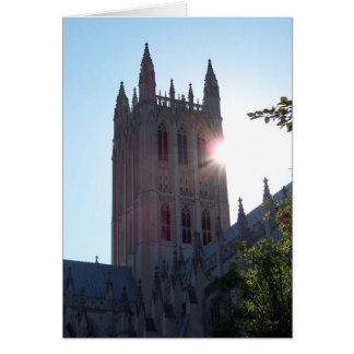 Washington National Cathedral at Sundown Greeting Card