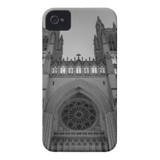 Washington National Cathedral on a foggy night iPhone 4 Cases