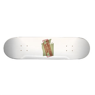 Washington Native Stamped on Map Skate Deck
