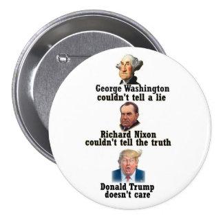 Washington, Nixon and Trump 7.5 Cm Round Badge