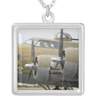 Washington, Olympia,  military airshow. 2 Square Pendant Necklace