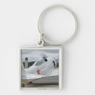 Washington, Olympia, military airshow. 6 Silver-Colored Square Key Ring