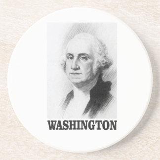 Washington pose beverage coasters
