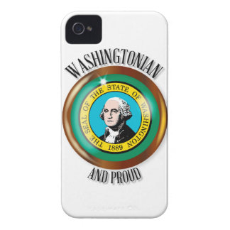 Washington Proud Flag Button iPhone 4 Cover