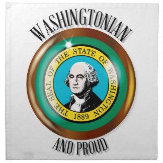 Washington Proud Flag Button Napkin