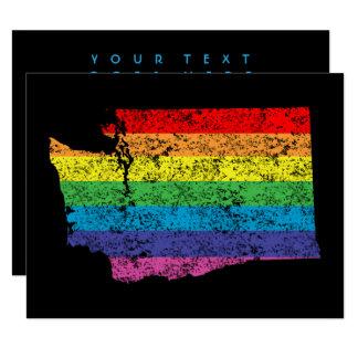 washington rainbow 11 cm x 14 cm invitation card