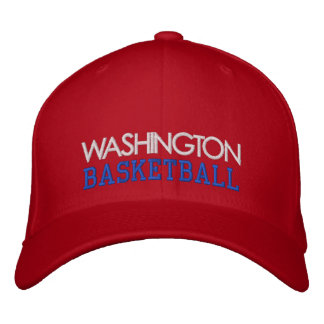 WASHINGTON Red Basketball Cap Embroidered Hats