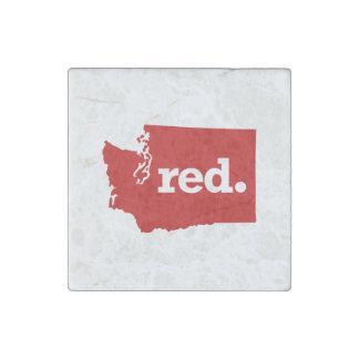 WASHINGTON RED STATE STONE MAGNET