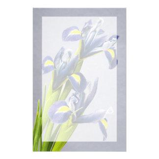 Washington, Redmond, Purple Irises Customized Stationery