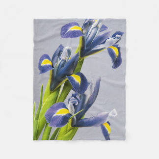 Washington, Redmond, Purple Irises Fleece Blanket