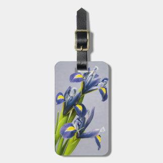 Washington, Redmond, Purple Irises Travel Bag Tags