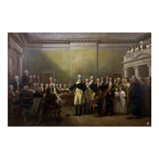 Washington Resigning his Commission John Trumbull Print