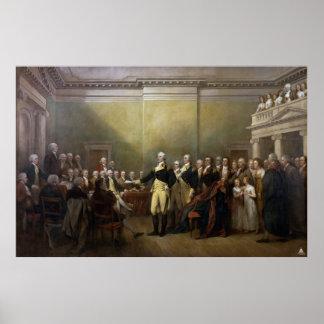 Washington Resigning his Commission John Trumbull Poster