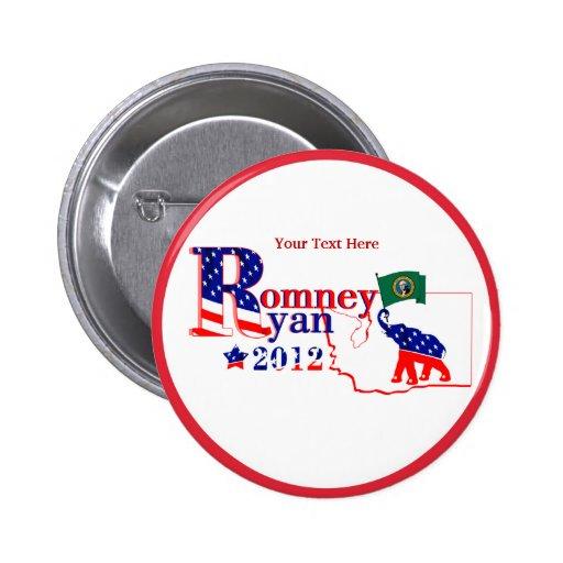 Washington Romney and Ryan 2012 Button Customize 2
