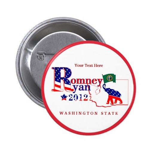 Washington Romney and Ryan 2012 Button – Customize