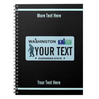 Washington Sasquatch License Plate Spiral Notebook