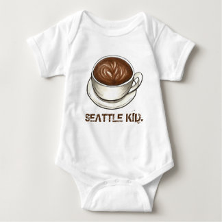Washington SEATTLE KID Coffee Cup Latte Baby Bodysuit