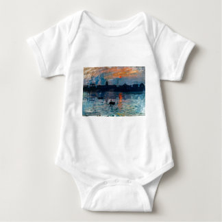 Washington Skyline1 Baby Bodysuit