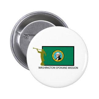 WASHINGTON SPOKANE MISSION LDS CTR 6 CM ROUND BADGE