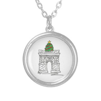 Washington Square Arch NYC Christmas Tree Necklace