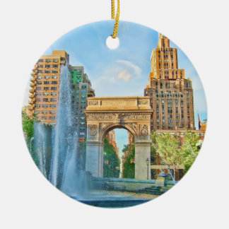 Washington Square Park, NYC Ceramic Ornament
