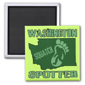 Washington Squatch Spotter Square Magnet