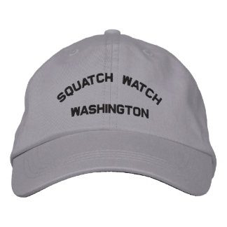 Washington Squatch Watch Embroidered Cap