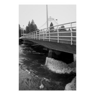 WASHINGTON ST BRIDGE SPRING RUNOFF SPOKANE 2017 POSTER