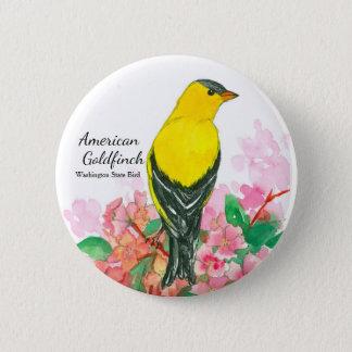 Washington State Bird American Goldfinch 6 Cm Round Badge