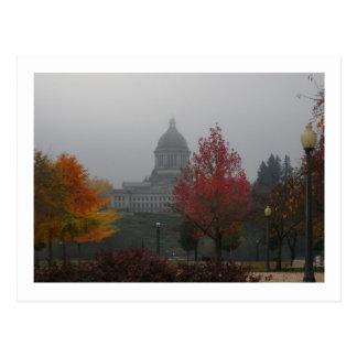 Washington State Capitol in Fog - photograph Postcard