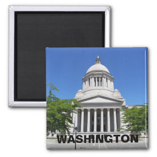 Washington State Capitol Travel Photo Square Magnet