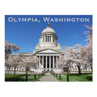 Washington State Capitol Travel Postcard