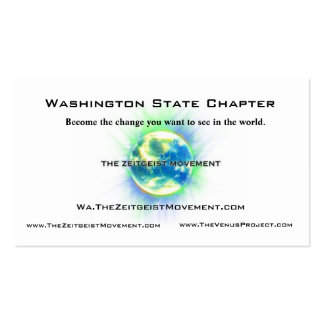 Washington State Chapter Black Pack Of Standard Business Cards