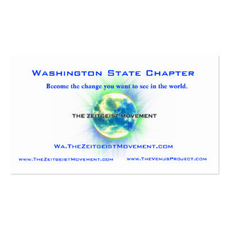 Washington State Chapter Blue Pack Of Standard Business Cards