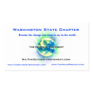 Washington State Chapter Pack Of Standard Business Cards