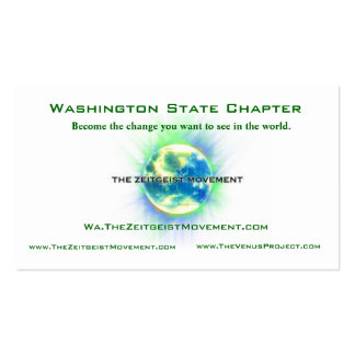 Washington State Chapter Green Double-Sided Standard Business Cards (Pack Of 100)
