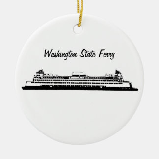 Washington State Ferry Ceramic Ornament