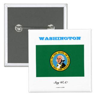 WASHINGTON state flag 15 Cm Square Badge