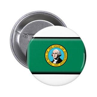 Washington State Flag 6 Cm Round Badge