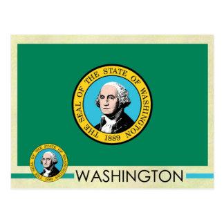 Washington State Flag and Seal Postcard