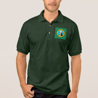 Washington State Flag Design Polo Shirt