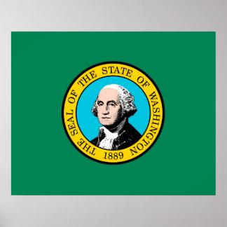 Washington State Flag Design Poster